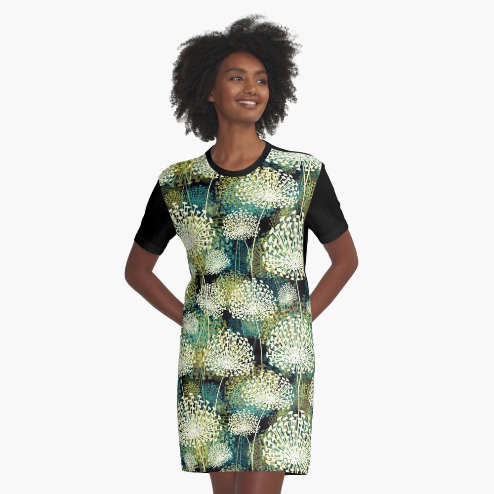 Dandelions Graphic T-Shirt Dress