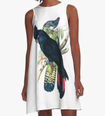 Australian Banksian Black Cockatoo A-Line Dress