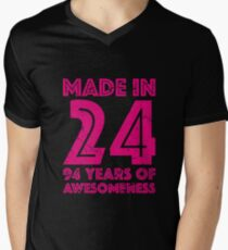 94th Birthday Gift Adult Age 94 Year Old Women Womens Mens V Neck T