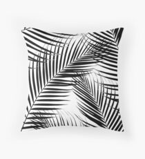 Palm Leaves - Black & White Cali Vibes #1 #tropical #decor #art  Throw Pillow