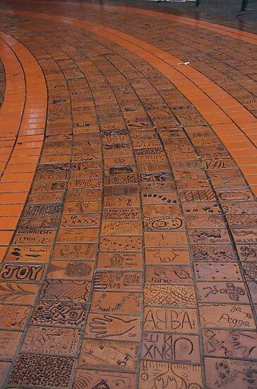 Brick Footpath, Melbourne by lezvee