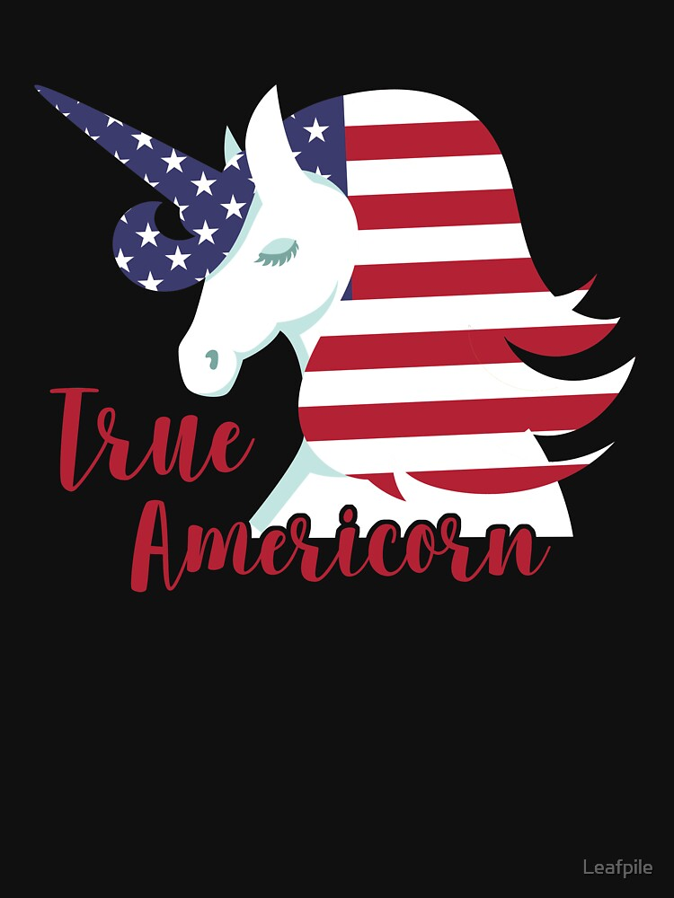 True Americon 4th of July American Unicorn by Leafpile