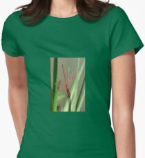 Beautiful Red Skimmer or Firecracker Dragonfly Womens Fitted T-Shirt