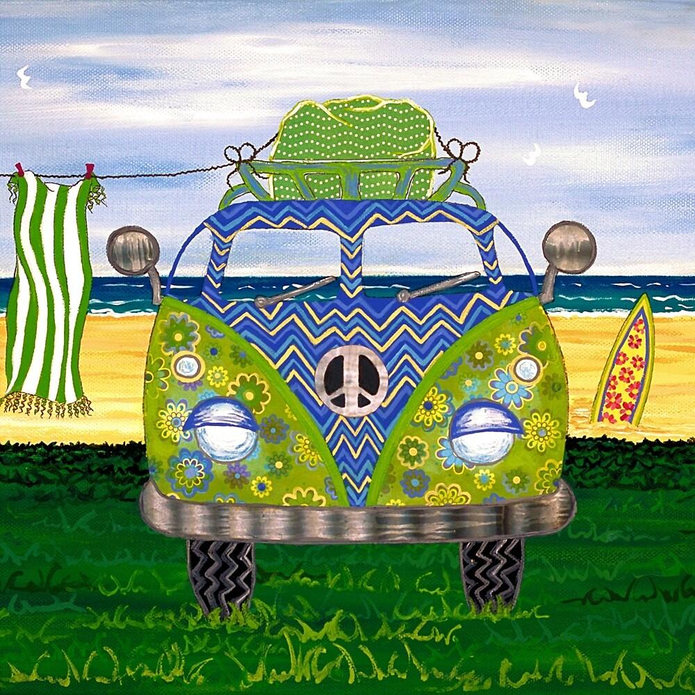 Hippy Van Blue by Lisafrancesjudd