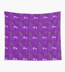 Purple floral modern Wall Tapestry