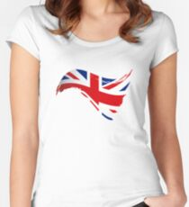 The Flag of The United Kingdom I Women's Fitted Scoop T-Shirt