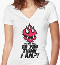 Who The Hell Do You Think I Am?! Women's Fitted V-Neck T-Shirt