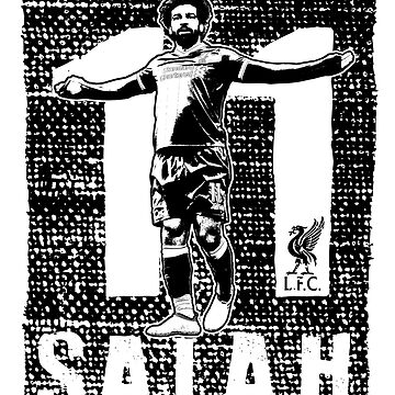 Mohamed Salah - Liverpool FC (Black Print) #2 by TurboCake