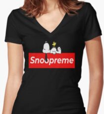 Peanuts - Snoopy - Snoopreme Women's Fitted V-Neck T-Shirt