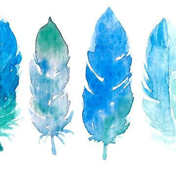 blue and green feathers by rhebroman