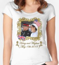 Prince Harry and Meghan Markle Royal Wedding Women's Fitted Scoop T-Shirt