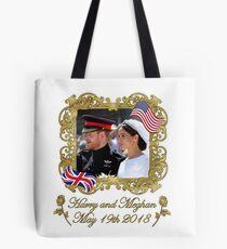 Prince Harry und Meghan Markle Königliche Hochzeit Tote Bag
