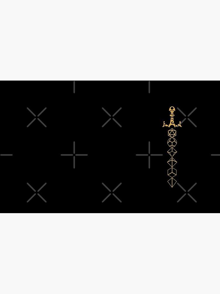 Juego de dados Sword Tabletop RPG Gaming de pixeptional