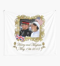 Prince Harry and Meghan Markle Royal Wedding Wall Tapestry