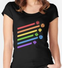 Rainbow Dice Set Tabletop RPG Gaming Women's Fitted Scoop T-Shirt