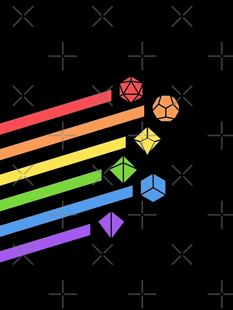 Rainbow Dice Set Tabletop RPG Gaming by pixeptional