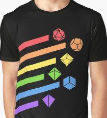 Camiseta gráfica Rainbow Dice Juego de mesa RPG Gaming
