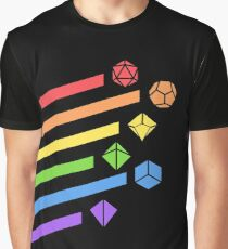 Rainbow Dice Set Tabletop RPG Gaming Graphic T-Shirt