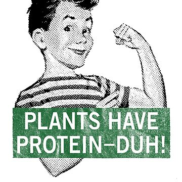 Plants Have Protein - Duh! by snickrdoodle