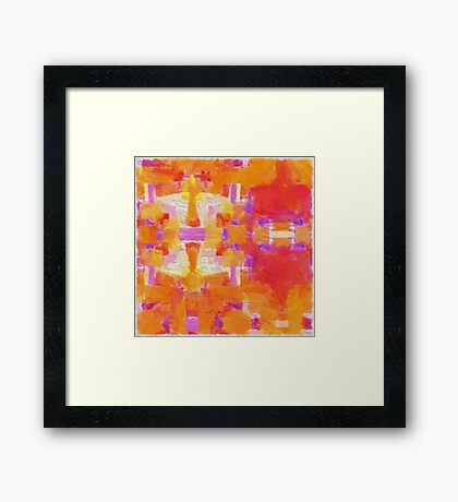 Paint Repeat Framed Print