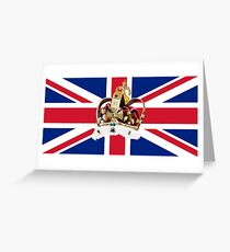 Crown with union Jack Greeting Card