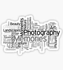 Photography Word Art 5 Sticker