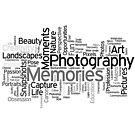 Photography Word Art 5 by Robyn Carter
