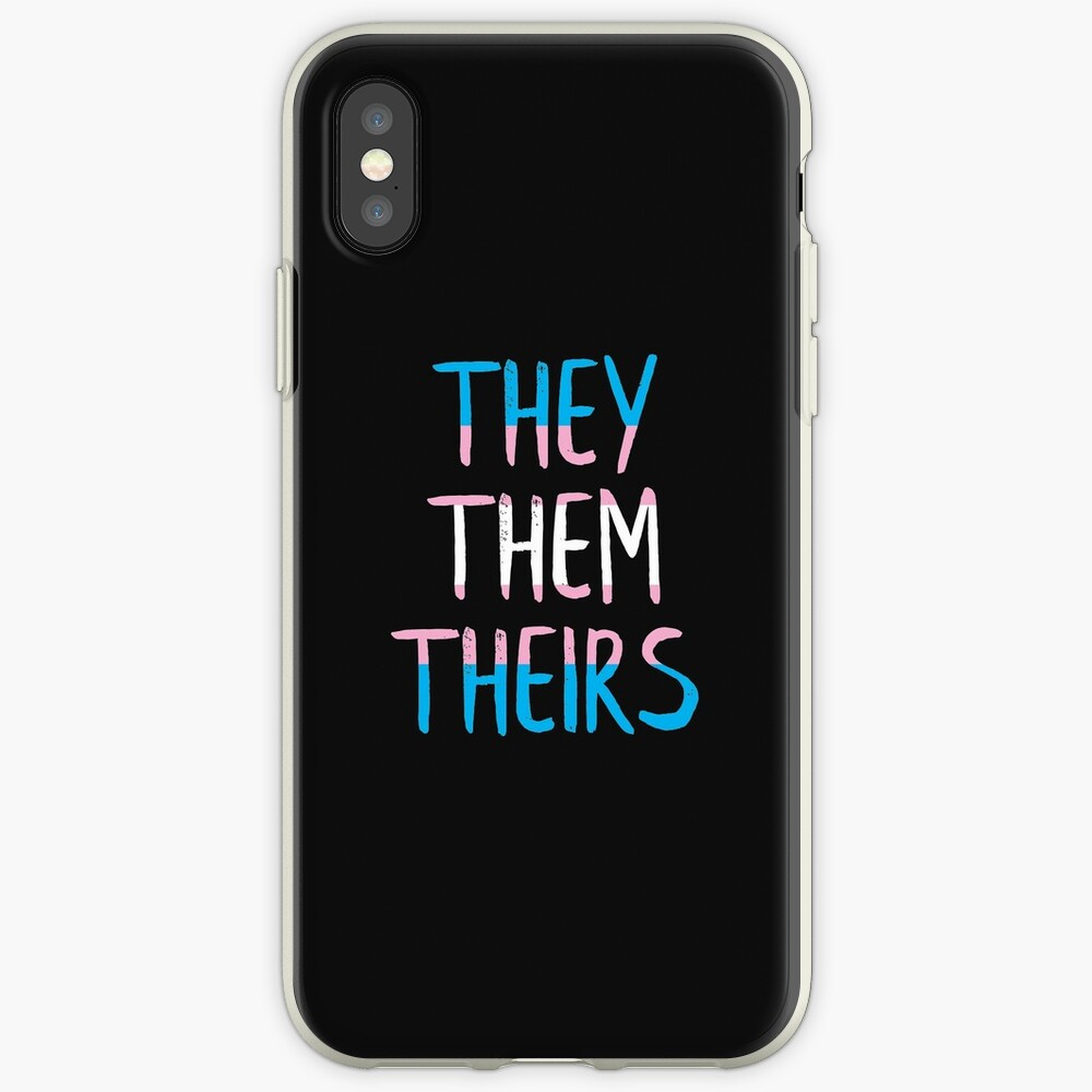 They, Them, Theirs - Respect the Pronoun iPhone Case & Cover