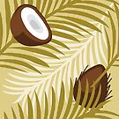 Palm and Coconut Pattern by pda1986