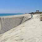 Toward Moonstone Along the Beach Fence by Jack McCabe