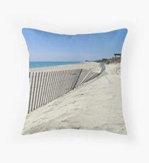 Toward Moonstone Along the Beach Fence Throw Pillow