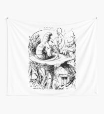 Through The Looking Glass Alice and Caterpillar  Wall Tapestry