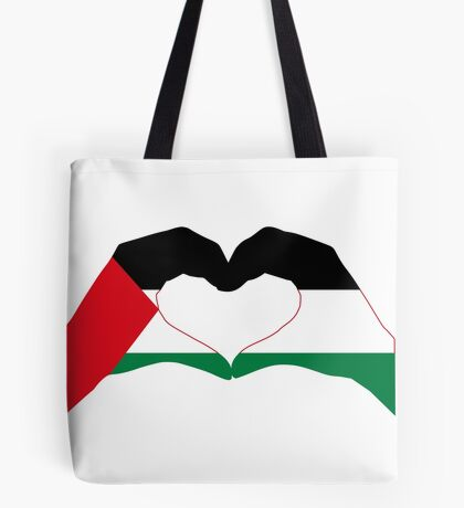 We Heart Palestine Patriot Flag Series  Tote Bag