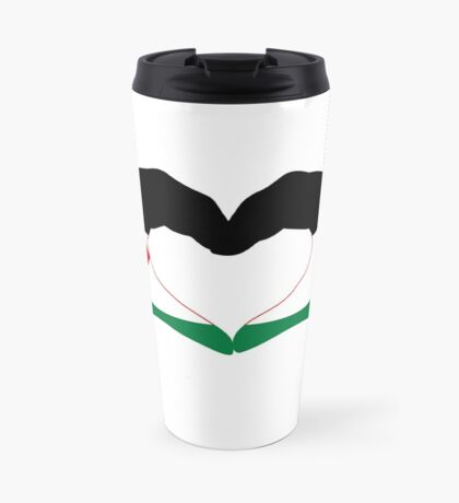 We Heart Palestine Patriot Flag Series  Travel Mug