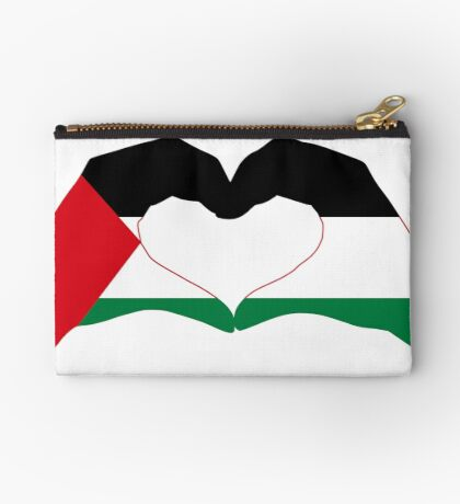 We Heart Palestine Patriot Flag Series  Zipper Pouch