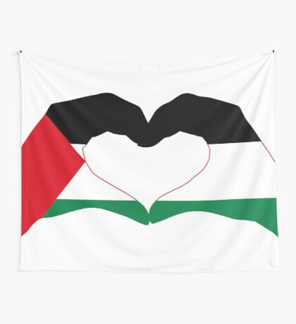 We Heart Palestine Patriot Flag Series  Wall Tapestry