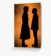 the doctor and his detective  Greeting Card