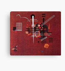 Kandinsky - Dull Red Canvas Print
