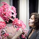 Drag queen and a fan by AndrewStadnyk