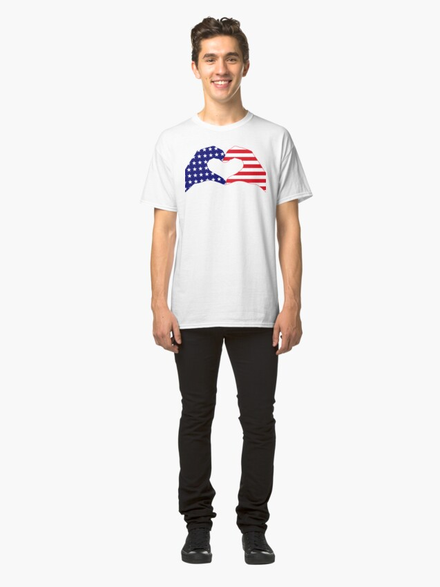 Alternate view of We Heart the United States of America Patriot Series Classic T-Shirt