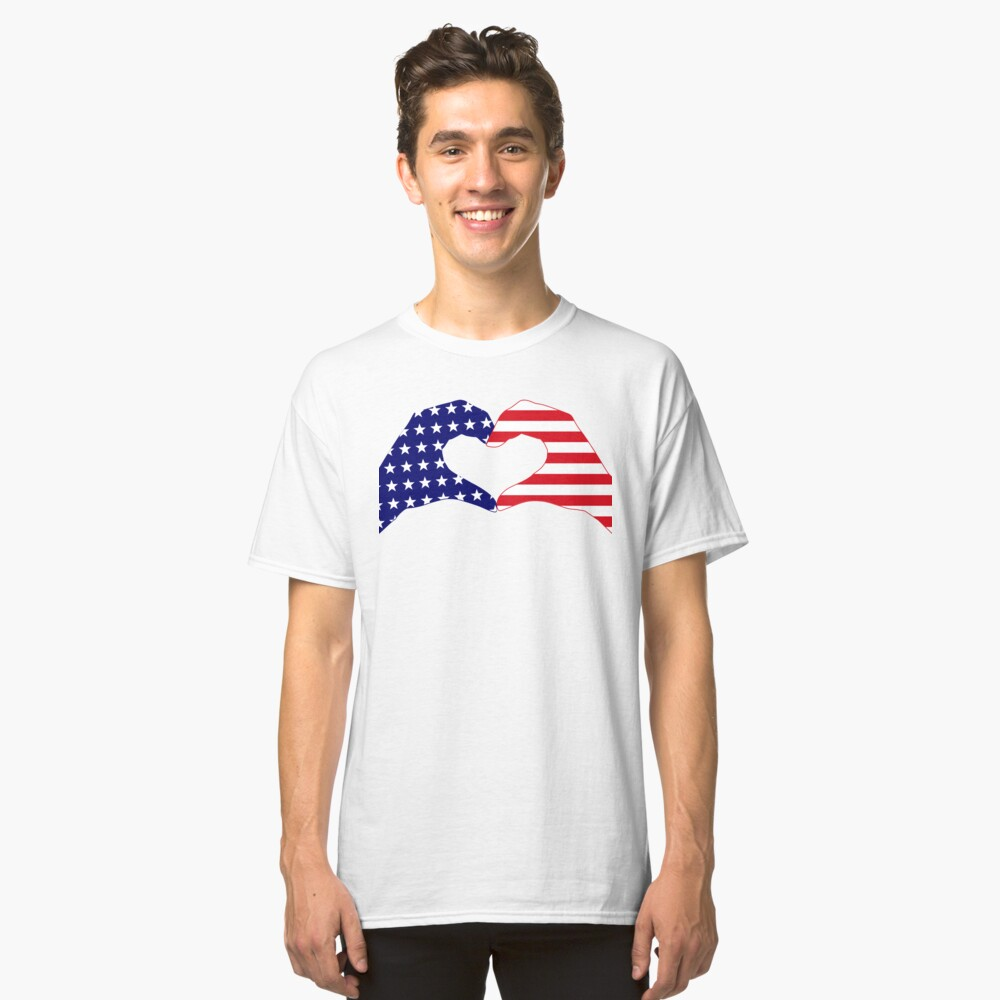 We Heart the United States of America Patriot Series Classic T-Shirt