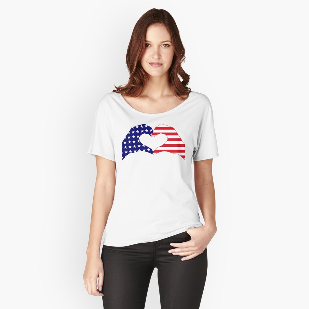 We Heart the United States of America Patriot Series Relaxed Fit T-Shirt