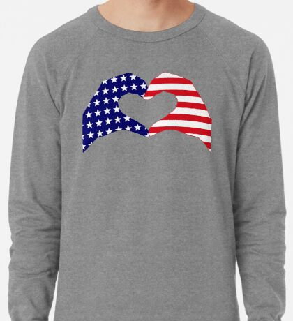 We Heart the United States of America Patriot Series Lightweight Sweatshirt