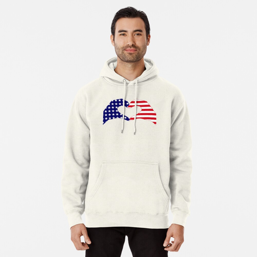 We Heart the United States of America Patriot Series Pullover Hoodie