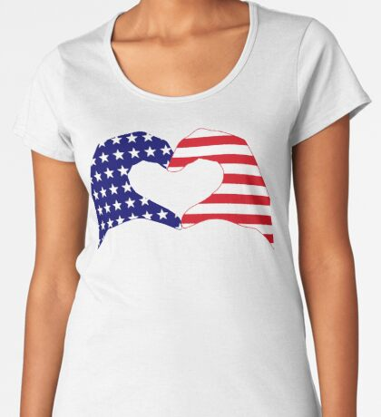We Heart the United States of America Patriot Series Premium Scoop T-Shirt