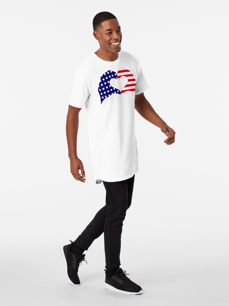 Alternate view of We Heart the United States of America Patriot Series Long T-Shirt