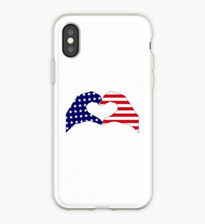 We Heart the United States of America Patriot Series iPhone Case