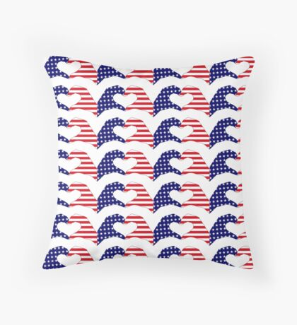We Heart the United States of America Patriot Series Floor Pillow
