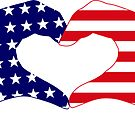 We Heart the United States of America Patriot Series by Carbon-Fibre Media