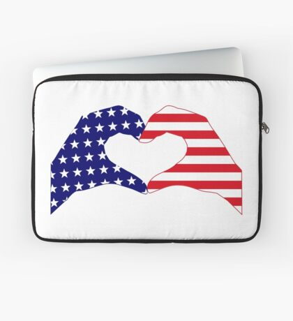 We Heart the United States of America Patriot Series Laptop Sleeve